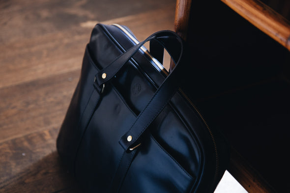 Carter Black | Briefcases UK | La Portegna UK | Handmade Leather Goods | Vegetable Tanned Leather