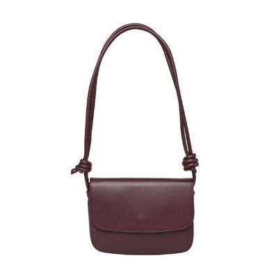 Lucia Large Burgundy Shoulder Bags | La Portegna UK | Handmade Leather Goods | Vegetable Tanned Leather