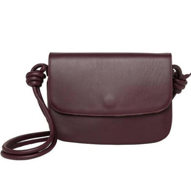 Lucia Burgundy Shoulder Bags | La Portegna UK | Handmade Leather Goods | Vegetable Tanned Leather