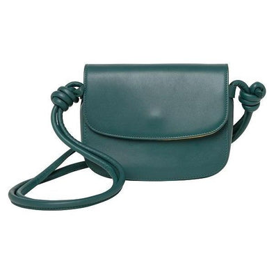 Lucia Mini Petrol Shoulder Bags | La Portegna UK | Handmade Leather Goods | Vegetable Tanned Leather