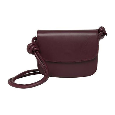 Lucia Mini Burgundy | Shoulder Bags UK | La Portegna UK | Handmade Leather Goods | Vegetable Tanned Leather