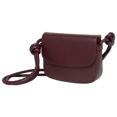 Lucia Small Burgundy Shoulder Bags | La Portegna UK | Handmade Leather Goods | Vegetable Tanned Leather