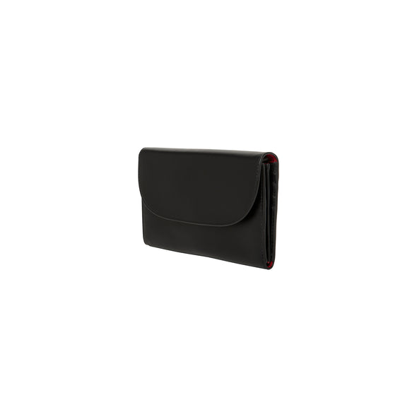 Lucía Purse Black & Red | Purses UK | La Portegna UK | Handmade Leather Goods | Vegetable Tanned Leather