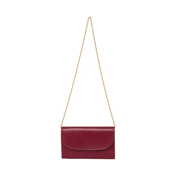Leather Crossbody Bag | Purses | Lucia Cherry Chain - Hanging