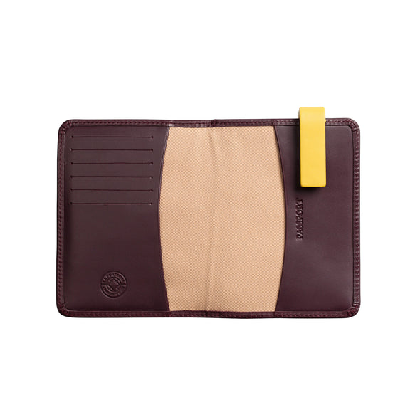Willy Burgundy Wallets | La Portegna UK | Handmade Leather Goods | Vegetable Tanned Leather