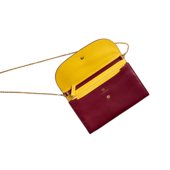Leather Crossbody Bag | Purses | Lucia Cherry Chain - Open
