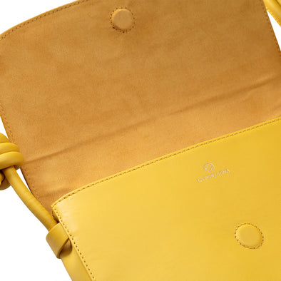 Lucia Small Mustard Shoulder Bags | La Portegna UK | Handmade Leather Goods | Vegetable Tanned Leather