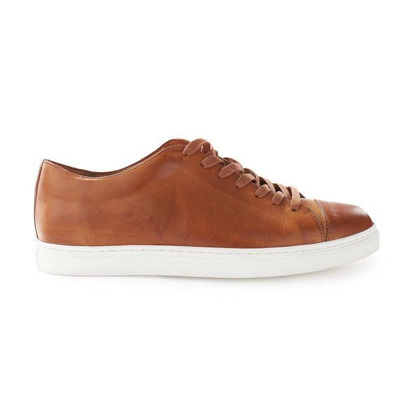 Alex Sol Sneakers | La Portegna UK | Handmade Leather Goods | Vegetable Tanned Leather
