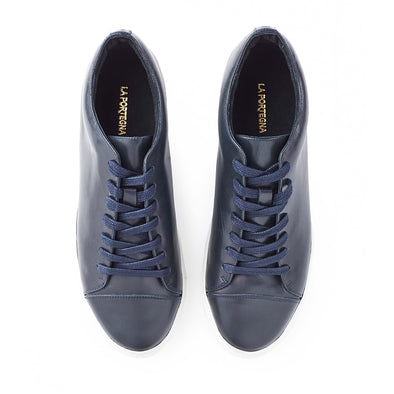Customization available in casual sneakers Alex Navy by La Portegna