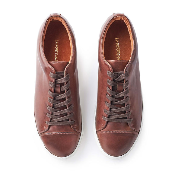 Alex Chocolate | Sneakers UK | La Portegna UK | Handmade Leather Goods | Vegetable Tanned Leather
