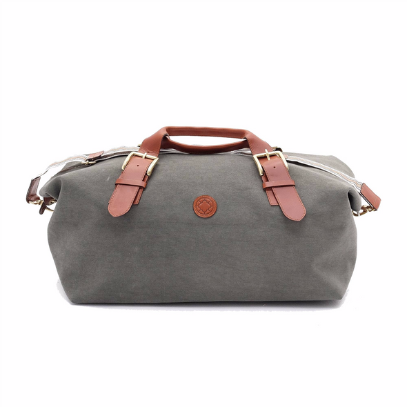 Leather Duffle Bag | Mick Olive Green