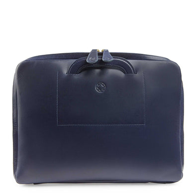 "Office laptop bag Belgrano Navy 13"" by La Portegna"