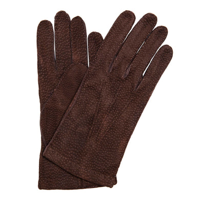 Luxury leather gloves Capybara Brown handmade in Italy