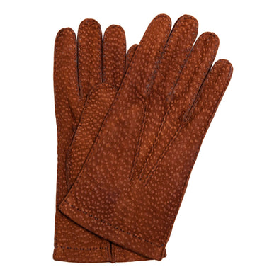 Luxury leather gloves Capybara Tan by La Portegna London