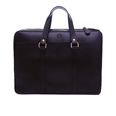 Carter Navy | Briefcases UK | La Portegna UK | Handmade Leather Goods | Vegetable Tanned Leather