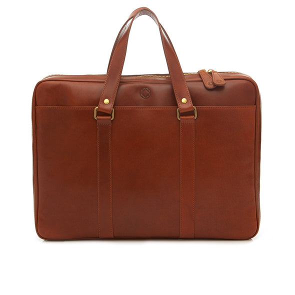 Carter Sol Briefcases | La Portegna UK | Handmade Leather Goods | Vegetable Tanned Leather