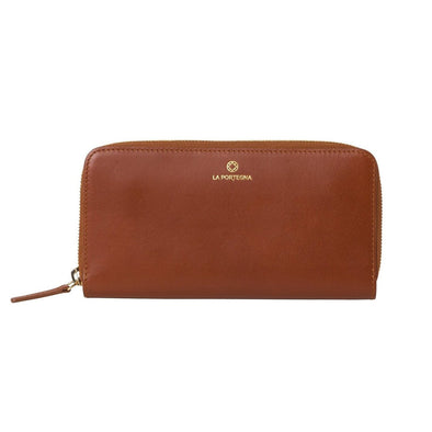 Julia Purse Tan | La Portegna UK | Handmade Leather Goods | Vegetable Tanned Leather