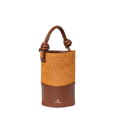 Clarita Jute Caramel | UK | La Portegna UK | Handmade Leather Goods | Vegetable Tanned Leather