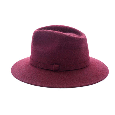Stetson Burgundy Hats | La Portegna UK | Handmade Leather Goods | Vegetable Tanned Leather