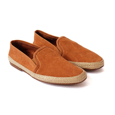 Dani Nappa Leather Tan Espadrilles | La Portegna UK | Handmade Leather Goods | Vegetable Tanned Leather