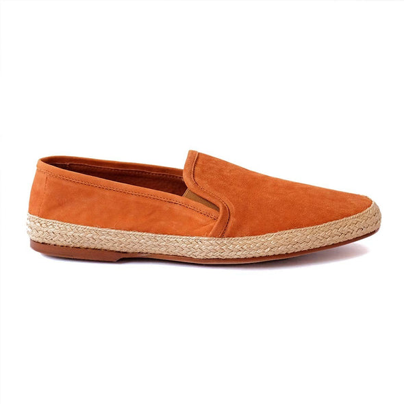 Espadrilles Men - Leather Sole Shoes - Nappa Marron Right