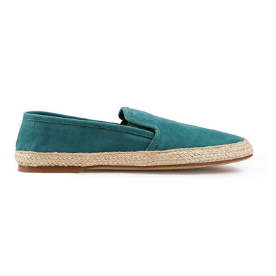 Espadrilles Men - Leather Sole Shoes - Nappa Verde Right