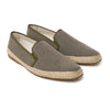 Dani Linen Khaki | Espadrilles UK | La Portegna UK | Handmade Leather Goods | Vegetable Tanned Leather