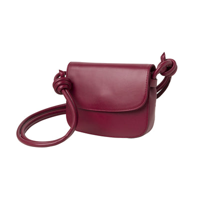 Lucia Mini Cherry Shoulder Bags | La Portegna UK | Handmade Leather Goods | Vegetable Tanned Leather