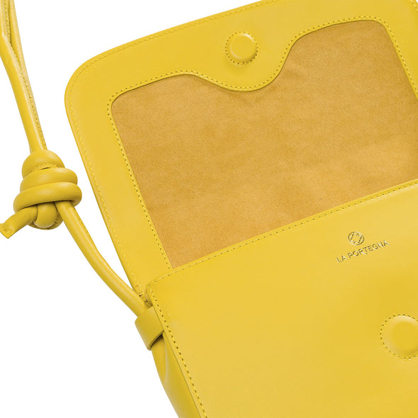 Lucia Mustard Shoulder Bags | La Portegna UK | Handmade Leather Goods | Vegetable Tanned Leather
