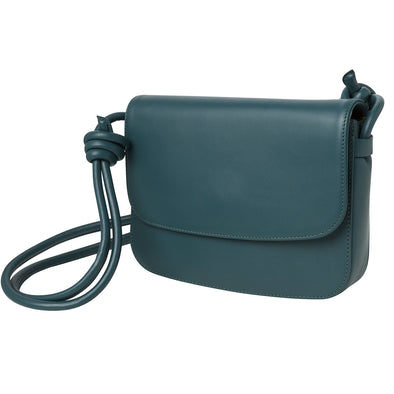 Lucia Petrol | Shoulder Bags UK | La Portegna UK | Handmade Leather Goods | Vegetable Tanned Leather