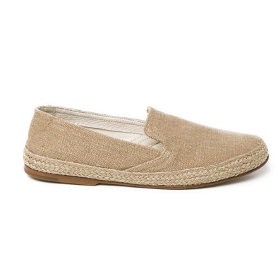 Daniela Beige Linen | Espadrilles UK | La Portegna UK | Handmade Leather Goods | Vegetable Tanned Leather