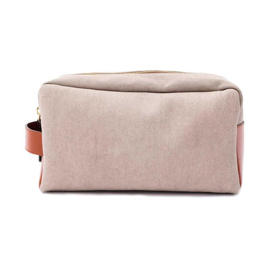 Dopp Kit Cement Washcases | La Portegna UK | Handmade Leather Goods | Vegetable Tanned Leather