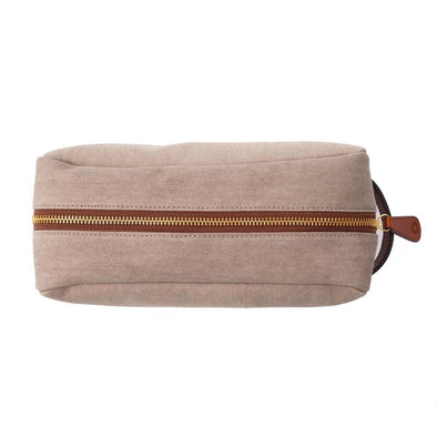 Dopp Kit Cement | Washcases UK | La Portegna UK | Handmade Leather Goods | Vegetable Tanned Leather