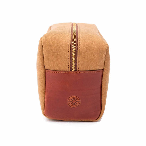 Travel Bags For Men | Dopp Kit Gold - Left