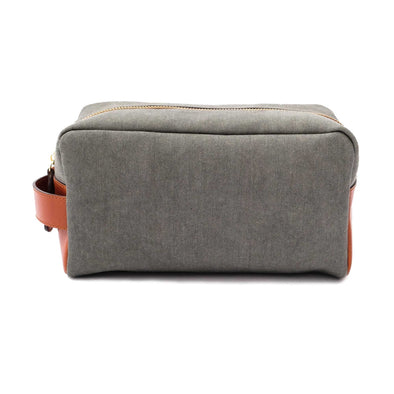 Travel Bags For Men | Dopp Kit Green - Front