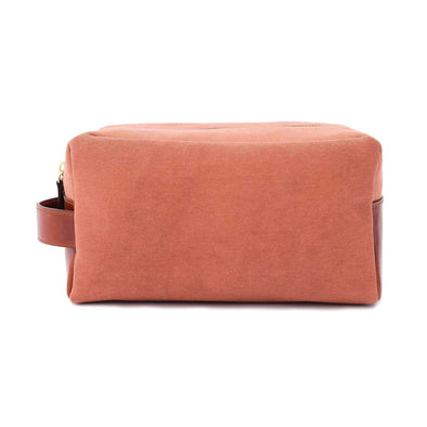 Dopp Kit Terracota Washcases | La Portegna UK | Handmade Leather Goods | Vegetable Tanned Leather