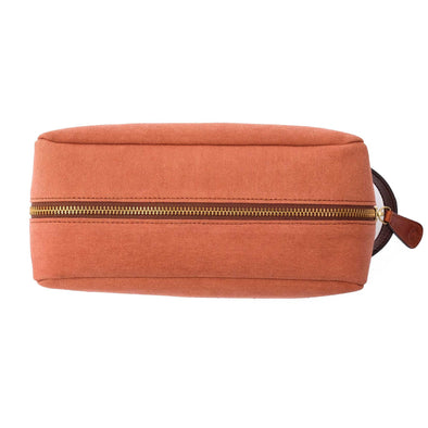 Travel Bags For Men | Dopp Kit Terracota - Top