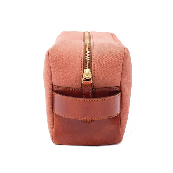Travel Bags For Men | Dopp Kit Terracota - Right