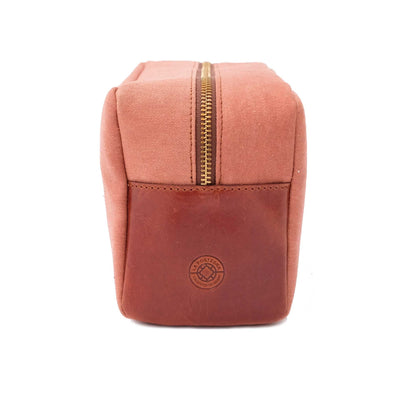 Travel Bags For Men | Dopp Kit Terracota - Left