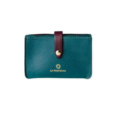 Eleonora Petrol & Burgundy | UK | La Portegna UK | Handmade Leather Goods | Vegetable Tanned Leather