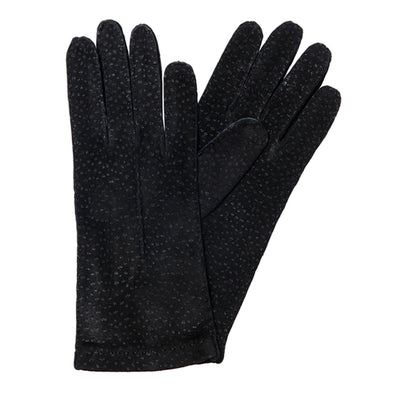 Exotic Black | Gloves UK | La Portegna UK | Handmade Leather Goods | Vegetable Tanned Leather