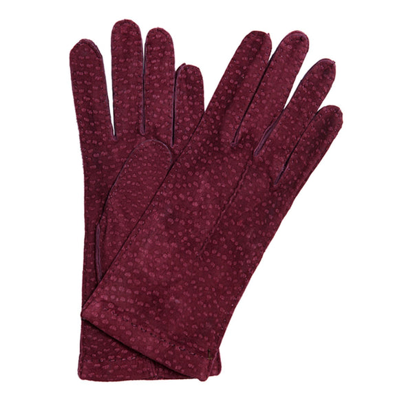 Leather Gloves | Carpincho Leather | Exotic Burgundy