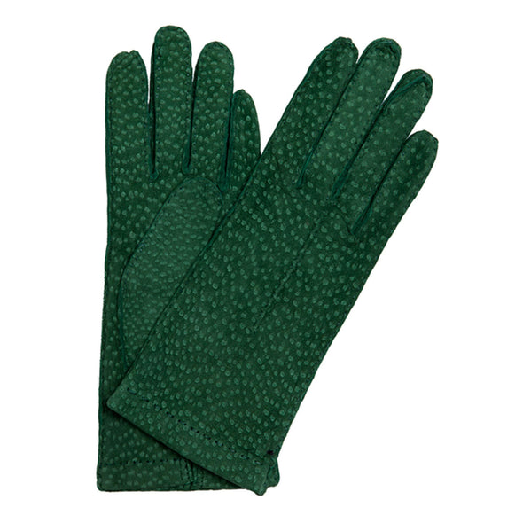 Exotic Green Gloves | La Portegna UK | Handmade Leather Goods | Vegetable Tanned Leather