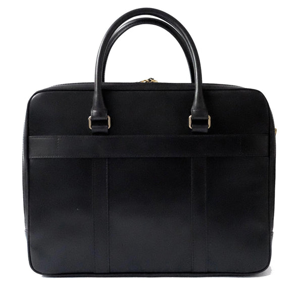 Fat Carter Black | Briefcases UK | La Portegna UK | Handmade Leather Goods | Vegetable Tanned Leather