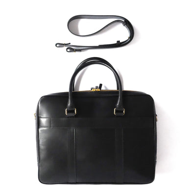 Leather Briefcase | Leather Laptop Bag | Fat Carter Black - Overview