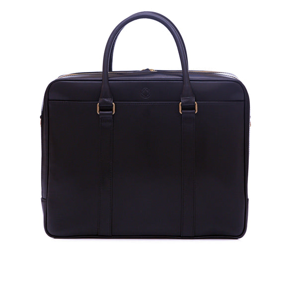Fat Carter Navy | Briefcases UK | La Portegna UK | Handmade Leather Goods | Vegetable Tanned Leather