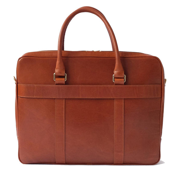 Fat Carter Tabaco Briefcases | La Portegna UK | Handmade Leather Goods | Vegetable Tanned Leather