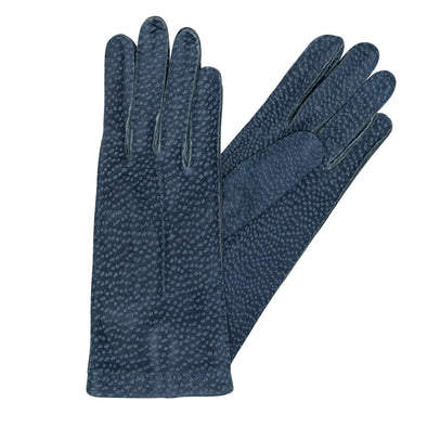 Exotic Blue Gloves | La Portegna UK | Handmade Leather Goods | Vegetable Tanned Leather