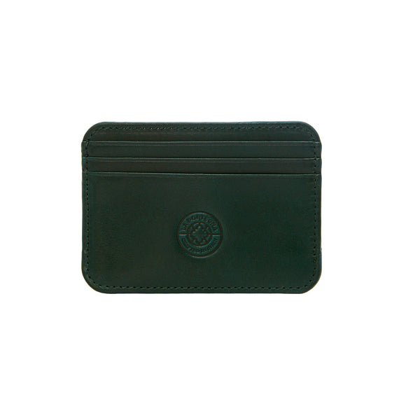 Humphrey Double Green & Navy | Wallets UK | La Portegna UK | Handmade Leather Goods | Vegetable Tanned Leather