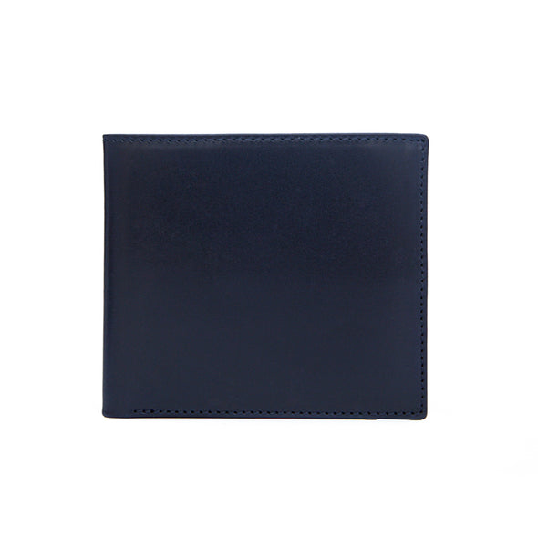 James Navy Wallets | La Portegna UK | Handmade Leather Goods | Vegetable Tanned Leather